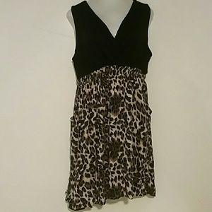 Woman's Torrid dress size 2x blue cheetah